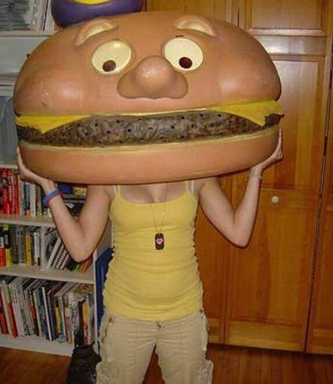 I ate a cheeseburger....